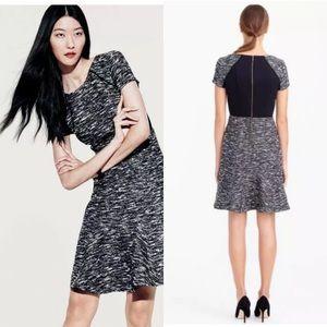 J.Crew Tweed Dress Fit & Flare Black/White 10